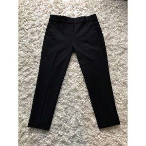 Black J. Crew Cropped Dress Pants
